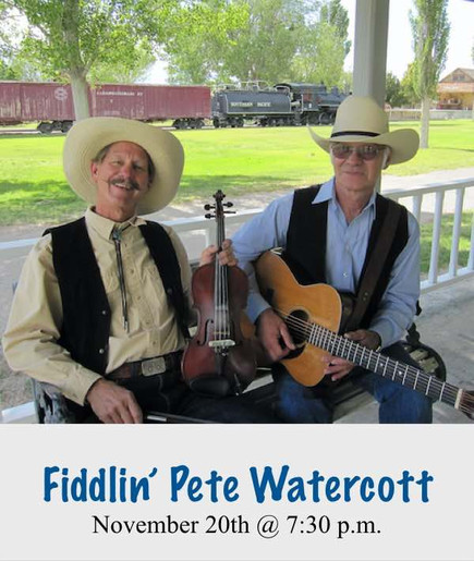 Concert -  Fiddlin' Pete Watercott - Friday October 27, 2017