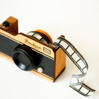 Wooden Camera Tape Dispenser