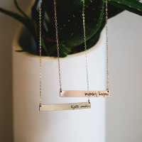 Hand Stamped Crossbar Necklaces