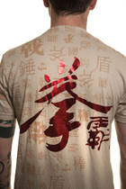 Qanba Red Foil Tshirt Cream
