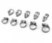 "10 Pack Hose Clamps 3/4"" - 1 1/4""  Clamp For Spa, Hot Tub, Manifold, Pool, Auto"