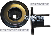 """210159 Vita Spa Mini Swirl Jet Face 2 3/4"""" In Diameter Black w/ Chrome Ring"""