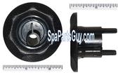 """210163 Vita Spa Mini Swirl Barrel Jet Face 2 1/2"""" In Diameter Black"""