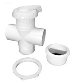 11-4000 Hydro Air 3 way Diverter Valve  Notched White 2""
