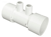 "672-4490 Waterway Manifold 1.5"" Slip x 1.5"" SPG x (2) 3/4"" Barb"