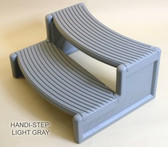 Gray Handi-Step Spa Step by Confer Plastics For Straight or Round Spas