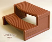Handi-Step Spa Step by Confer For Straight or Round Spas (Redwood Color)