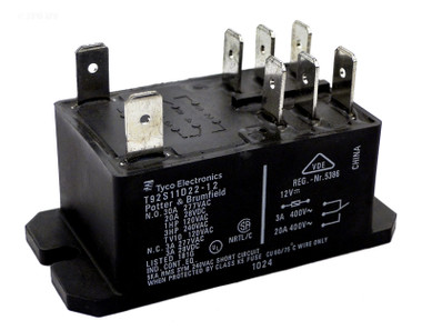T92S11D22-12 Potter & Brumfield Spa Relay DPST 12 VDC Coil T92 ... on viair compressor pressure switch relay wiring diagram, kato turn out control switch diagram, spa heater high limit without wiring,