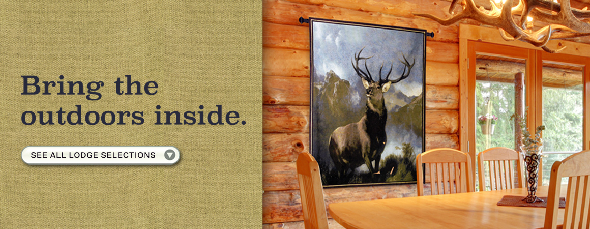 Shop Lodge Wall Tapestries.