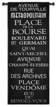 Streets of Paris Wall Tapestry Wall Tapestry