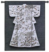 White Katabria Kimono Wall Tapestry Wall Tapestry