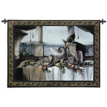 Promessa d'Estate Large Wool and Cotton Wall Tapestry Wall Tapestry