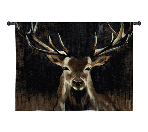 Young Buck Large Wall Tapestry Wall Tapestry