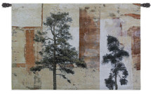 Parchment Trees II Wall Tapestry Wall Tapestry