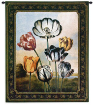 Temple Of Flora Tulips Small Wall Tapestry Wall Tapestry