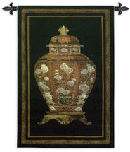 Oriental Jar I Large Wall Tapestry Wall Tapestry