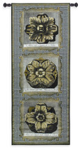 Haute Gold Medallion Tri Wall Tapestry Wall Tapestry