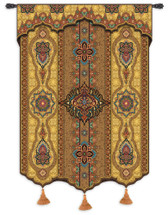 Prema Gold Wall Tapestry Wall Tapestry