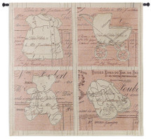 Vintage Baby Pink Large Wall Tapestry Wall Tapestry