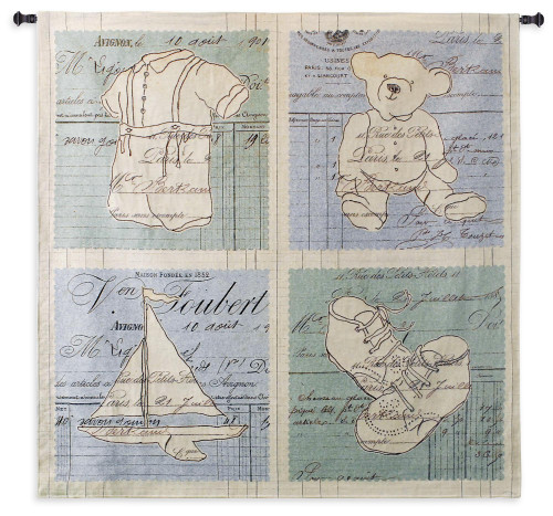 Vintage Boy Large Wall Tapestry Wall Tapestry