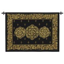 Black Medallion Wall Tapestry Wall Tapestry