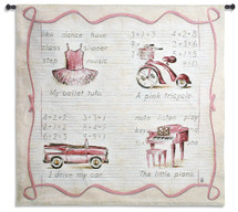 Pink Fun Wall Tapestry Wall Tapestry
