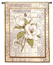 Magnolia Etching Wall Tapestry Wall Tapestry