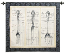 Utensil Document Wall Tapestry Wall Tapestry