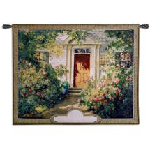 Grandma's Doorway Monogram Wall Tapestry Wall Tapestry