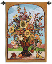 Autumn Vase Wall Tapestry Wall Tapestry