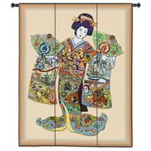 Geisha Wall Tapestry Wall Tapestry