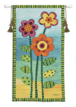 Long Stem Floral I Wall Tapestry Wall Tapestry
