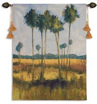 Tall Palms II Wall Tapestry Wall Tapestry
