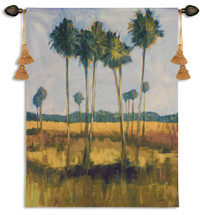 Tall Palms II Wall Tapestry Wall Tapestry