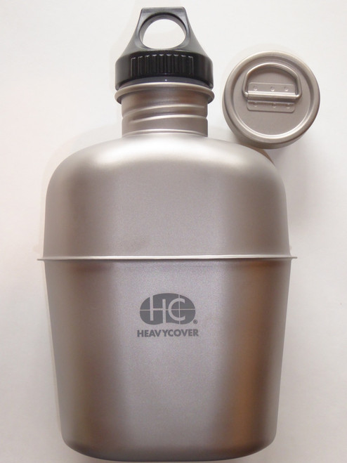 The Heavy Cover USGI Style Titanium Canteen is an integral part of the HCI USGI Style Titanium Mess Kit. The USGI canteen has been in military service for over 100 years and is now fully evolved using titanium, a space age material that has one of the highest strength to weight ratios known to man. Over the past 100 years the canteen has been the primary link between a military unit's water supply and the individual Marine/Soldier during combat operations. The USGI style canteen has serviced millions of troops and outdoor enthusiasts and still in service today.