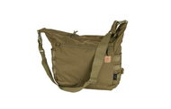 Bushcraft Satchel® is a general purpose field bag. May be used as a carry-all for one-day outing, or for every day urban activities. Extremely capacious. Main chamber comprises a zippered mesh pocket for valuable items plus two elastic drawstring pockets, e.g. water bottle holders. On the outside the bag has a large zippered pocket and two open pockets. MOLLE/PALS panels at the sides and bottom loops allow to attach additional pouches and items. Compression straps allow size adjustment.  Features     100% Cordura 500D Made in USA or Imported One external zippered pocket, one internal. Built in sheaths for knife/axe/saw Two internal elastic drawstring pockets for water bottles etc. Compression straps at sides PALS/MOLLE side panels. Easy internal personalization. Internal zippered mesh pocket Detachable, adjustable wide carrying strap. European Patent 002991372-0002. Dimensions 30 x 32 x 17.5 cm/ 11.81 x 12.6 x 6.89 in.