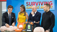 Biggest Loser Trainer , Bob Harper, Saved by AED- Reviews AED with Dr. Oz on Today Show