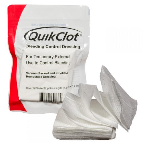 quikclot bleeding control z-fold dressing