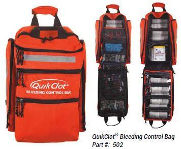 QuikClot Bleeding Control Bag (showing open bag)
