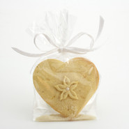 White Valentina Heart with Pearls Cookies