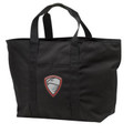 X Large Black Canvas Tote with Embroidered HILLGROVE BANDS Design