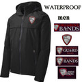 Adult Sized Waterproof Jacket - Black - with Embroidered HILLGROVE BANDS Design