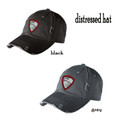 Distressed Hat with Embroidered HILLGROVE BANDS Crest