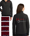 HILLGROVE DRUMLINE - Ladies'  Full Zip Soft Shell Jacket  with Custom Embroidered Design