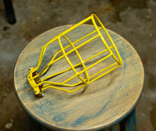 Yellow Bulb Guard, Clamp On Lamp Squirrel Cage