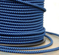 slate blue cotton twisted cloth covered 2 wire