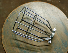 Steel Bulb Guard, Clamp On Metal Lamp Squirrel Cage, For Trouble Lights and Steampunk Fixtures