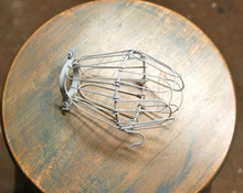 White Wire Bulb Cage, Clamp On Lamp Guard