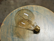 Edison Globe Light Bulb - G30 Size, 60 Watt Vintage Squirrel Cage Tungsten Filament