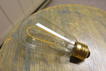 LED Edison Bulb - ST18, Curved Vintage Style Spiral Filament, 2w/25w equivalent fully dimmable.